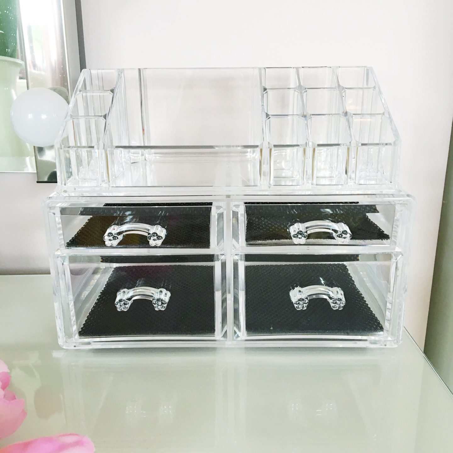 Songmics Acrylic Makeup Storage Review | Empty