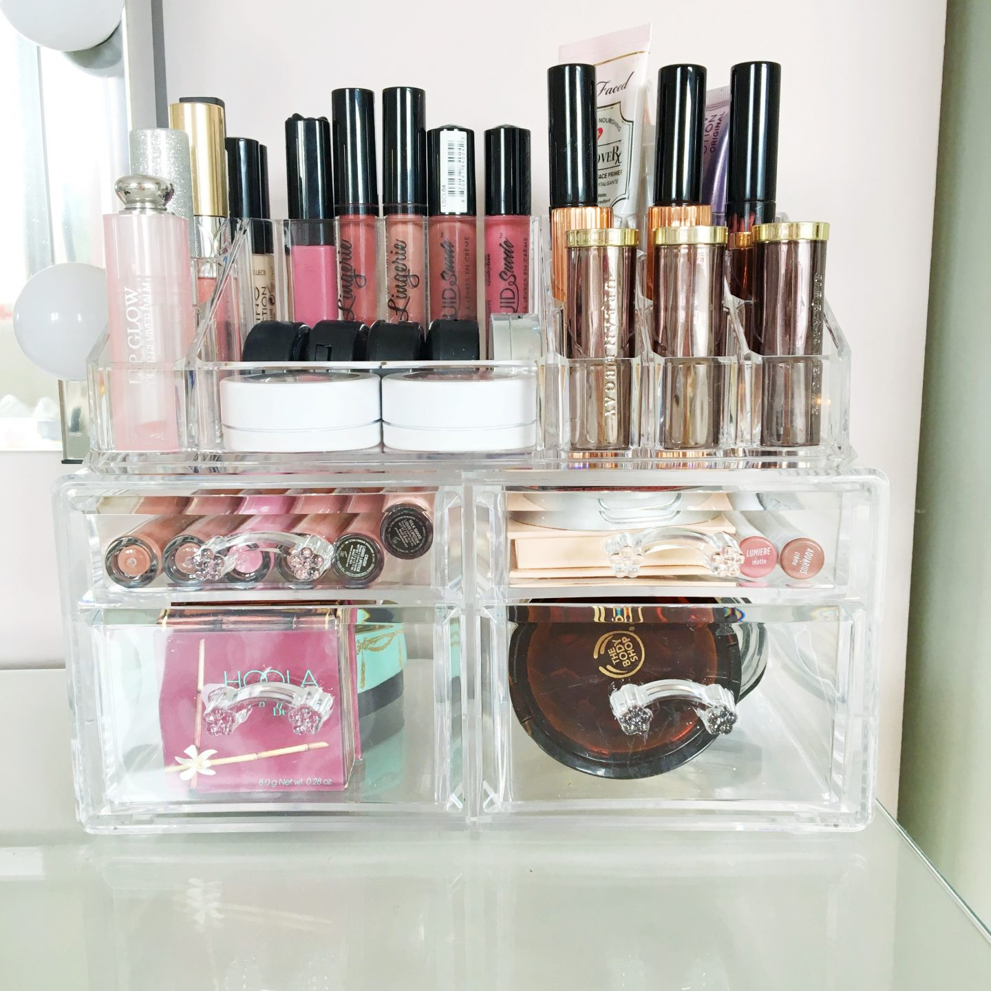 Songmics Acrylic Makeup Storage Review and GIVEAWAY!*