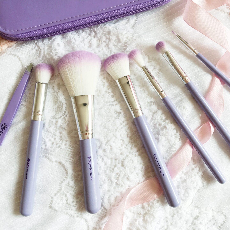 Crown Brush 523 Purple HD Brush Set Review | Brush Set