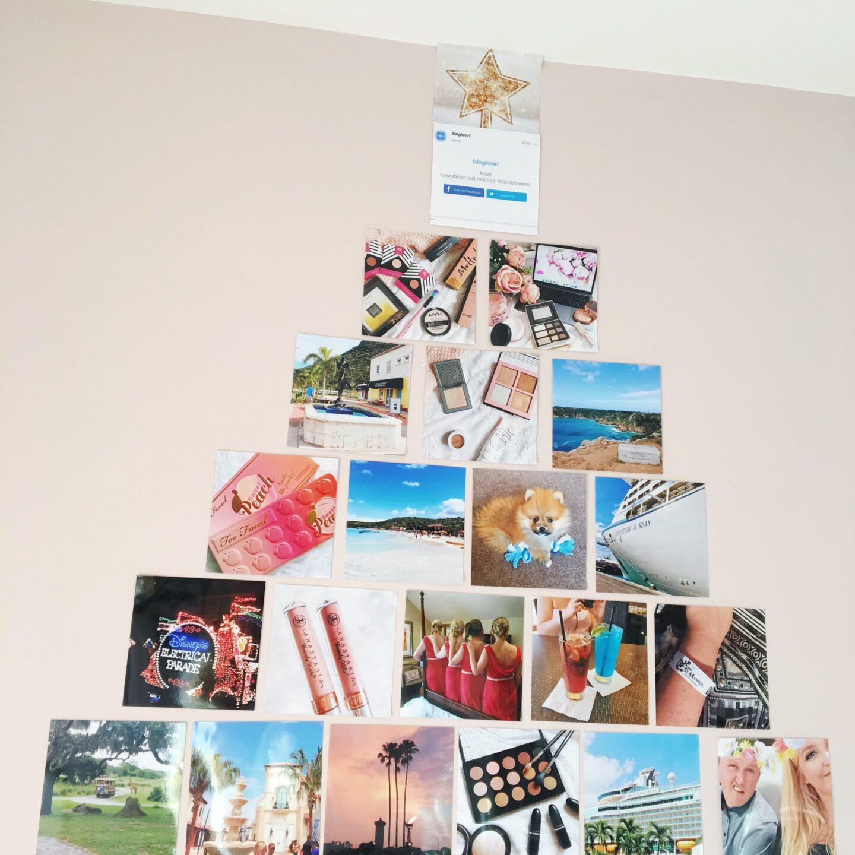 A Christmas Tree Photo Wall with Printiki | On Wall