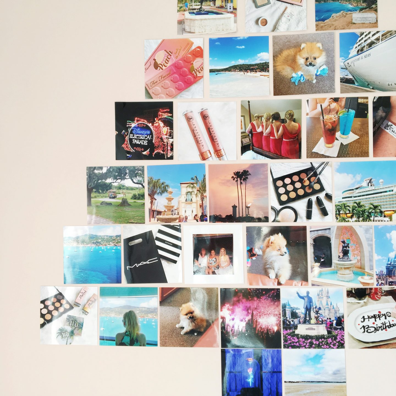 A Christmas Tree Photo Wall with Printiki | Prints